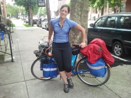 Hope Broecker, a fellow cross country cyclist who set me up with a place to stay in Harrisburg, PA. We had to part ways, but hopefully, we'll meet up in Missouri.